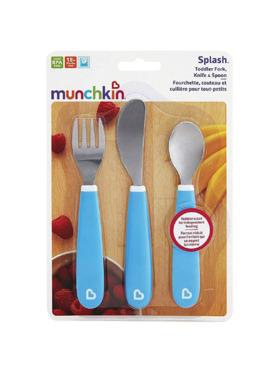 Munchkin Splash Toddler Fork, Knife & Spoon