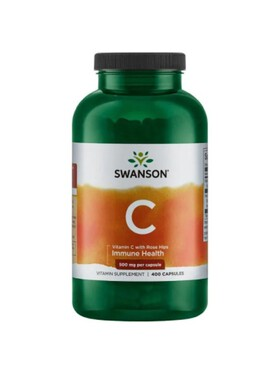 Swanson Vitamin C with Rose Hips 500mg (400 capsules)