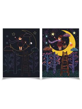 Joan Miro Scratch Cards Set - Full Moon