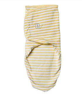 Swaddies PH Yellow Stripes Velcro Swaddle Wrap