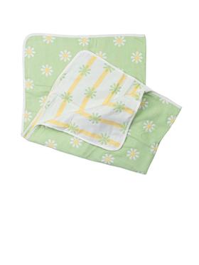 Swaddies PH Green Daisies Reversible Blanket