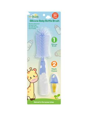 Tiny Buds Silicone Baby Bottle Brush
