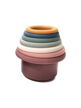 The Baby Basket Silicone Stacking Cups