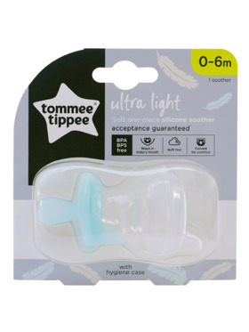 Tommee Tippee Soft-one Piece Silicone Soother (0-6m)