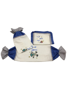 Kozy Blankie Space ABC Pillow Case and Bolster Case