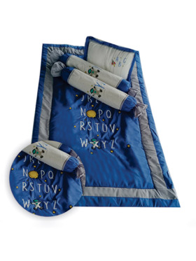 Kozy Blankie Space ABC Baby Comforter Set