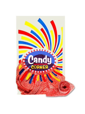 Fini Candy Corner Strawberry Sour Belts (300g)
