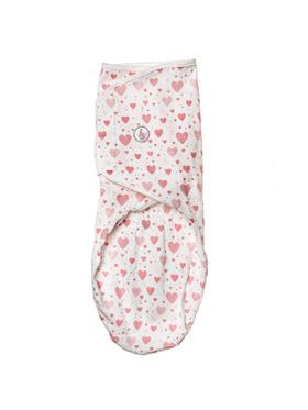 Swaddies PH Pink Hearts Velcro Swaddle Wrap