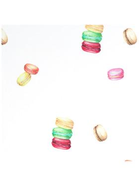 Baboo Basix Sweet Macarons Peel and Stick DIY Wall Decals