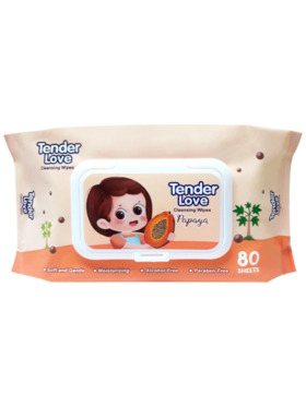 Tender Love New Papaya Scent Cleansing Wipes (80s)