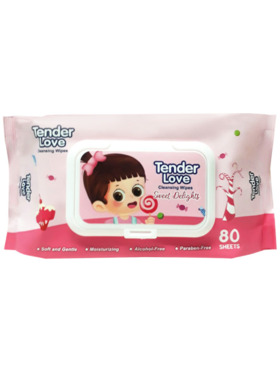 Tender Love New Sweet Delights Scent Cleansing Wipes (80s)