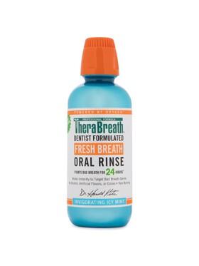 TheraBreath Fresh Breath Oral Rinse - Invigorating Icy Mint (16oz)