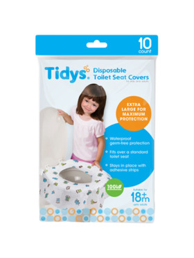 Tidys Disposable Toilet Seat Covers - Bundle of 10