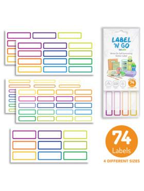 Totsafe Label N Go Write-On Self-Laminating Stickers (Plain/Basic) - Bundle of 74s