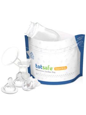 Totsafe Steam N Go Microwavable Sterilizer Bags - Bundle of 6