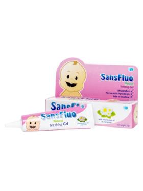 SansFluo Natural Teething Gel