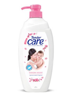 Tender Care Sakura Scent Hypo-Allergenic Baby Wash (500ml)