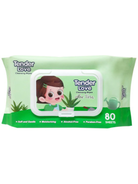 Tender Love New Aloe Vera Scent Cleansing Wipes (80s)