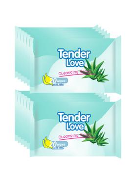 Tender Love Aloe Vera Cleansing Wipes 20's (12-Pack)