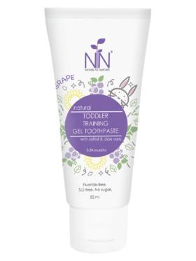 Nature to Nurture Toddler Training Gel Fluoride free Toothpaste Grape (50ml)