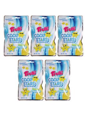Trolli Cool Stars Lemon + Menthol 30G (5-Pack)