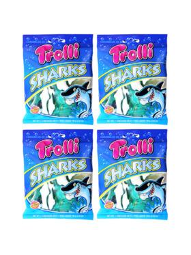 Trolli Gummy Sharks 100G (4-Pack)
