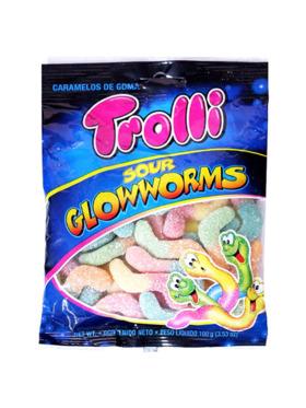 Trolli Sour Glow Worm 100g (4-Pack)