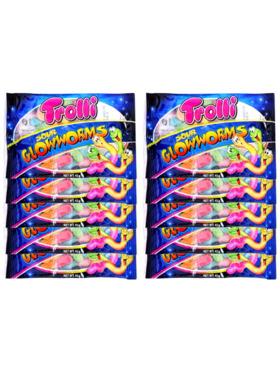 Trolli Sour Glow Worm 45g (10-Pack)