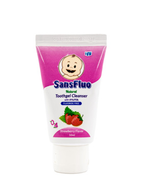 SansFluo Natural Strawberry Toothgel Cleanser