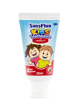 SansFluo Natural Kids Strawberry Creme Toothpaste