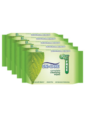 Uni-care Complete Cleansing Wipes 90's (5-Pack)