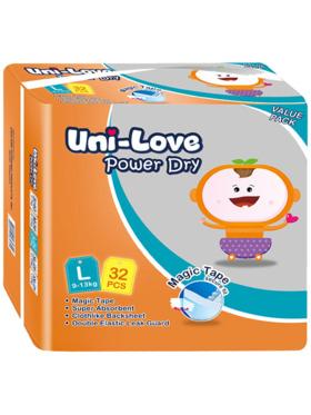 Uni-love Powerdry Baby Diaper Large (32 pcs)