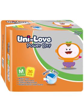 Uni-love Powerdry Baby Diaper Medium (36 pcs)
