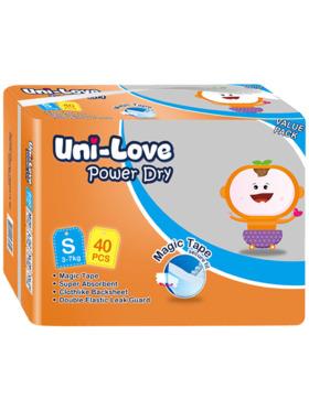 Uni-love Powerdry Baby Diaper Small (40 pcs)