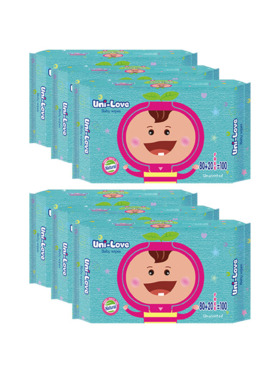 Uni-love Unscented Baby Wipes 100's (6-Pack)