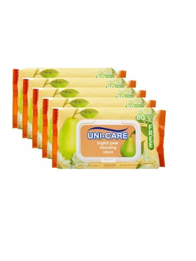 Uni-care English Pear Cleansing Wipes 90's (5-Pack)