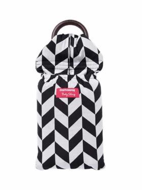 Mamaway Black & White Herringbone Baby Ring Sling