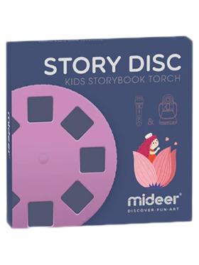 MiDeer Story Disc Films for Kids Storybook Torch - 4 Stories (Purple)