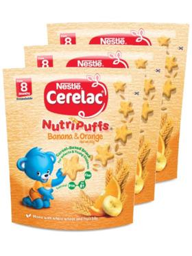 Nestle Cerelac Nutripuffs Orange (50g) Bundle of 3