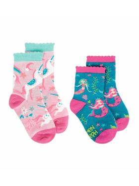 Stephen Joseph Mermaid and Unicorn Toddler Socks (2pairs)