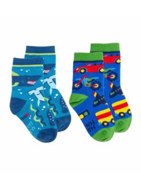 Stephen Joseph Transportation and Shark Toddler Socks (2pairs)