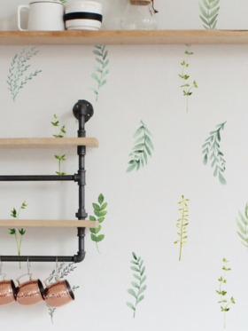 Urban Walls Botanical Foliage Wall Decal