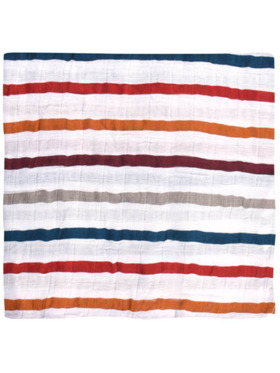Meet My Feet Stripes Muslin Wrap Swaddle