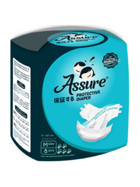 Assure Diapers Overnight Adult Protective Diapers Medium (8 pcs)
