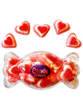 Candy Corner 3-Layer Heart Gummies in Candy Container (200g)