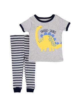 Little Steps Dinosaur 2-Piece Short Sleeves PJs
