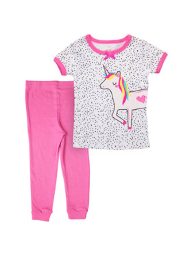 Little Steps Unicorn 2-Piece Short Sleeves PJs