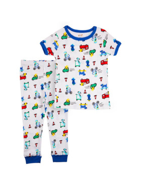 Little Steps Cars & Puppies 2-Piece Short Sleeves PJs
