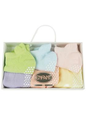 Enfant Anti-Skid Baby Socks (6 Pairs)