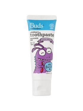 Buds Organics Blackcurrant Children's Toothpaste with Fluoride (50ml)